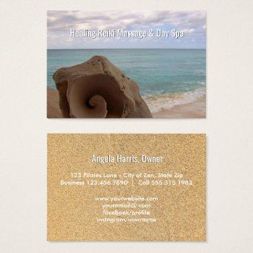 Reiki Massage Alternative Medicine Holistic Beach Business Card