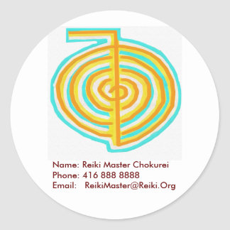 Reiki Master Address Slip Classic Round Sticker