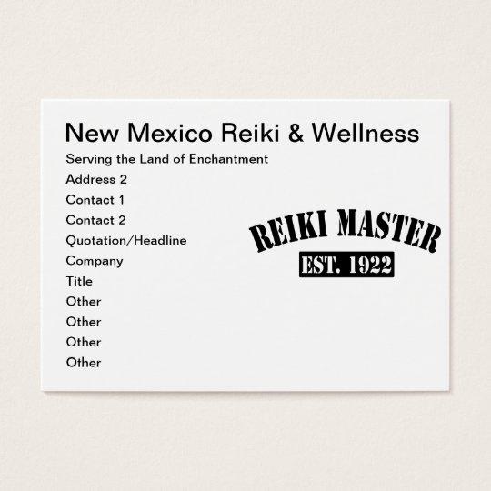 Reiki Master Business Card
