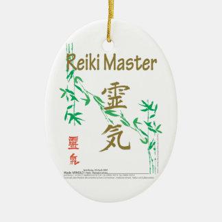 Reiki Master Ceramic Ornament