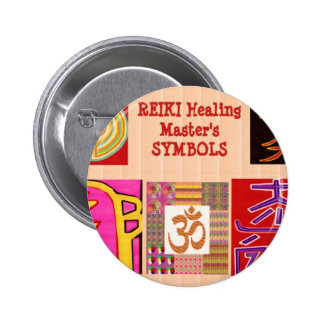 REIKI Master Healing ART Symbols - by NAVINJoshi 2 Inch Round Button