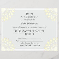 Reiki Master Lotus Certificate of Completion Award