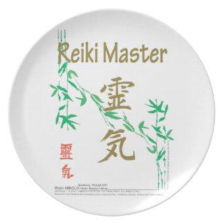 Reiki Master Dinner Plates