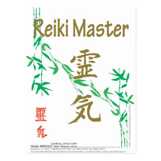 Reiki Master Postcard