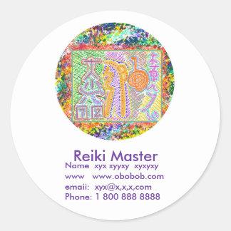 Reiki Master Sales Promotion Round Sticker