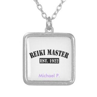 Reiki Master Square Pendant Necklace
