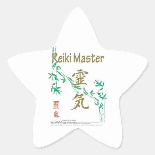 Reiki Master Star Sticker