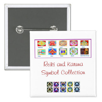 Reiki Master Tools - Symbols n Giveaways 2 Inch Square Button