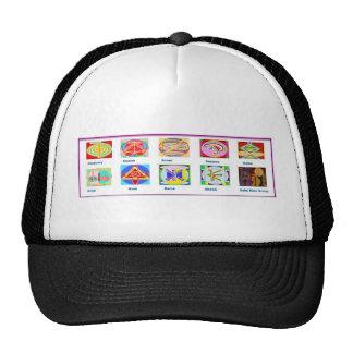 Reiki Master Tools - Symbols n Giveaways Mesh Hat