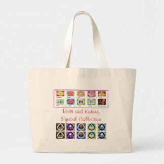 Reiki Master Tools - Symbols n Giveaways Jumbo Tote Bag