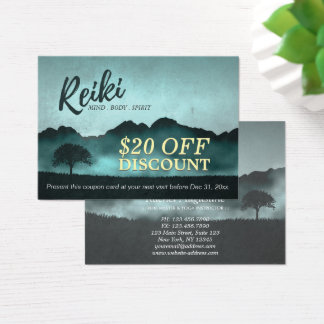 Reiki Master Yoga Instructor Discount Coupon Card
