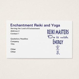 Reiki Masters Do It with Energy Business Card