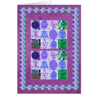 Reiki n Karuna Healing Symbols - by  Navin Joshi Greeting Card