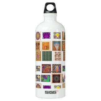 reiki,ommantra,buddha,ganesh,chokurei,chakra,krish aluminum water bottle