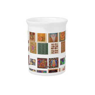 reiki,ommantra,buddha,ganesh,chokurei,chakra,krish beverage pitchers