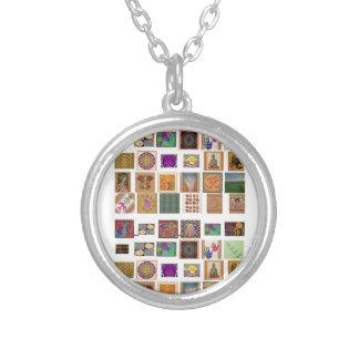 reiki,ommantra,buddha,ganesh,chokurei,chakra,krish round pendant necklace