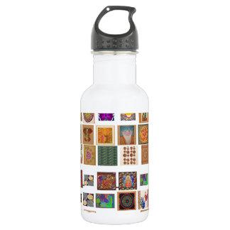 reiki,ommantra,buddha,ganesh,chokurei,chakra,krish 18oz water bottle