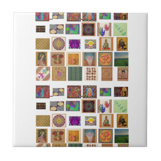 reiki,ommantra,buddha,ganesh,chokurei,chakra,krish small square tile