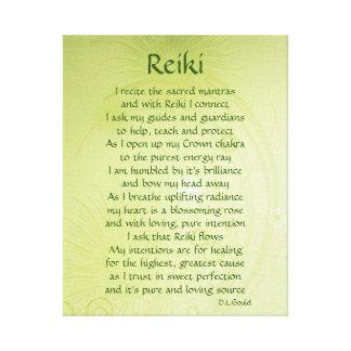 Reiki poem art canvas