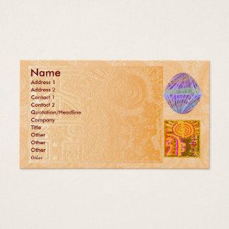REIKI Practioner - Symbol n Purple Crystals Business Card