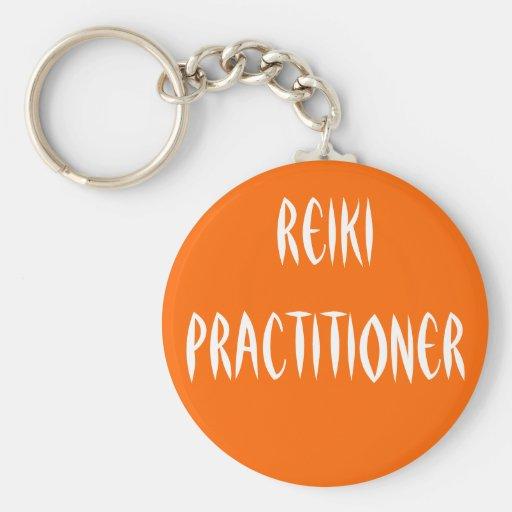 Reiki Practitioner Basic Round Button Keychain