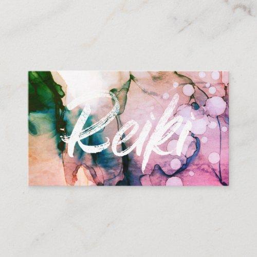 Reiki Practitioner Heal Master Energy Healer Business Card