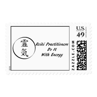 Reiki Practitioners Do It with Energy Poatage Stam Stamp