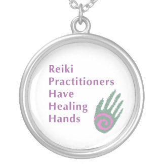 Reiki Practitioners Have Healing Hands Silver Plated Necklace