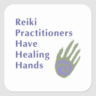 Reiki Practitioners Have Healing Hands Square Sticker