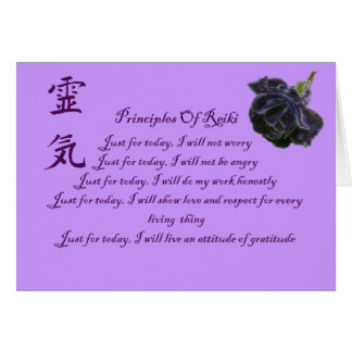 Reiki Principles And Symbol Blank Note Card