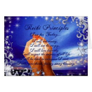 Reiki Principles Card