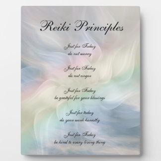 Reiki Principles Mandala Flower Plaque