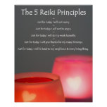 Reiki Principles with Candles Poster