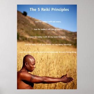 Reiki Principles with Man Poster