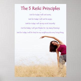 Reiki Principles with Yogini Posters