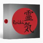Reiki - red 3 ring binder