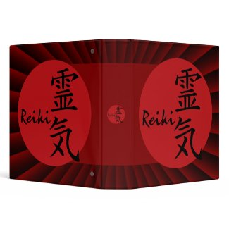 Reiki - red | dark red radial zazzle_binder