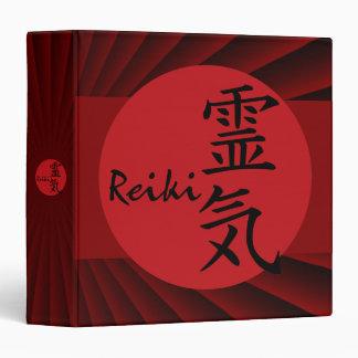 Reiki - red   dark red radial binder