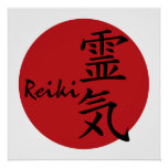 Reiki - red posters