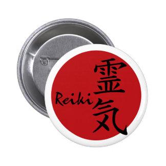 Reiki - rojo pin redondo 5 cm