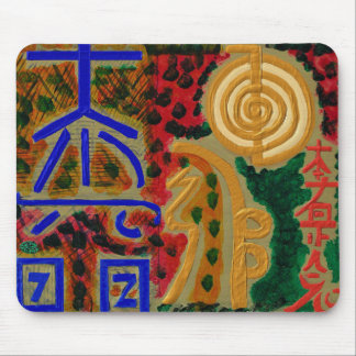 Reiki signs for Luck n Healing Mouse Pad