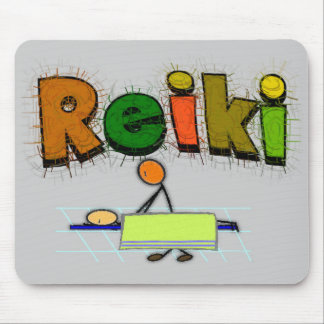 Reiki Stick People Design Gifts Mouse Pad