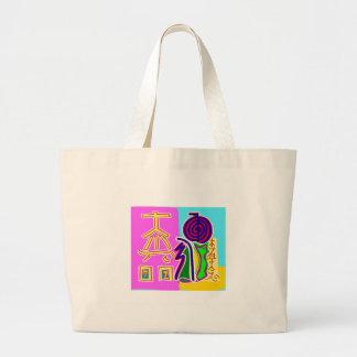 Reiki Symbol Art by Navin Joshi Large Tote Bag