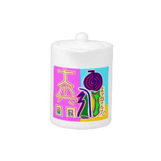 Reiki Symbol Art by Navin Joshi Teapot