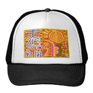 Reiki symbol art HEALING MASTER N STUDENTS Hats