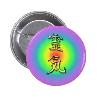 reiki symbol chakra 1 pin redondo 5 cm