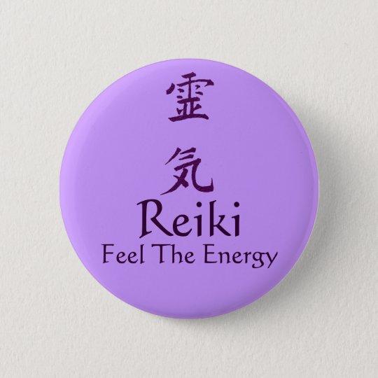 Reiki Symbol Feel The Energy Button Pin