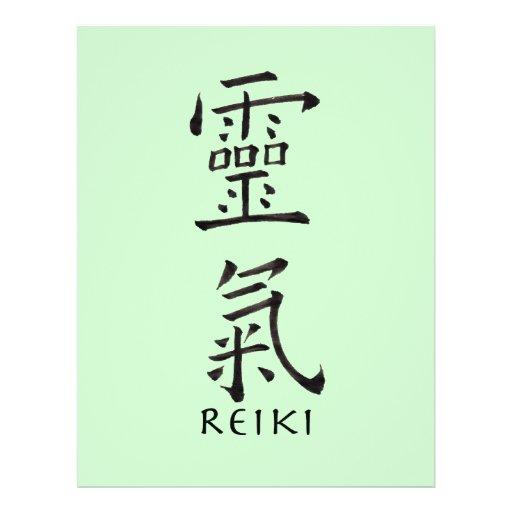 Reiki Symbol in Black Ink Flyer Design