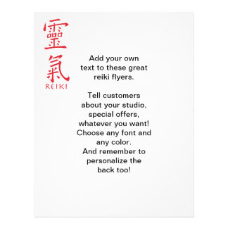 Reiki Symbol in Red Ink Flyer