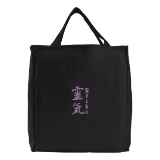 Reiki Symbol Larger Embroidered Tote Bags